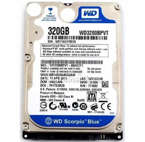 HDD 320GB LAPTOP
