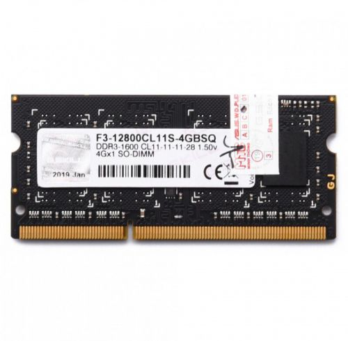 DDR3 LAPTOP GSKILL 4GB BUS 1600