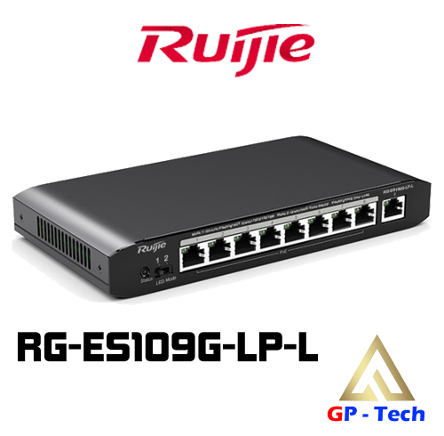 SWITCH POE 8 CỔNG RUIJIE RG-ES109G-LP-L